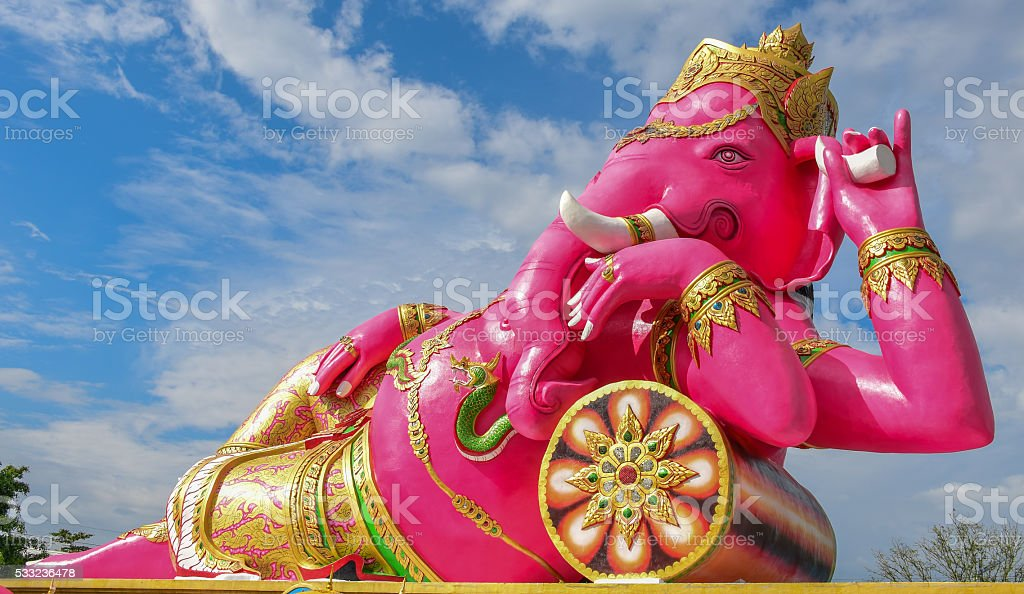 Ganesha in temple of Thailand stock photo