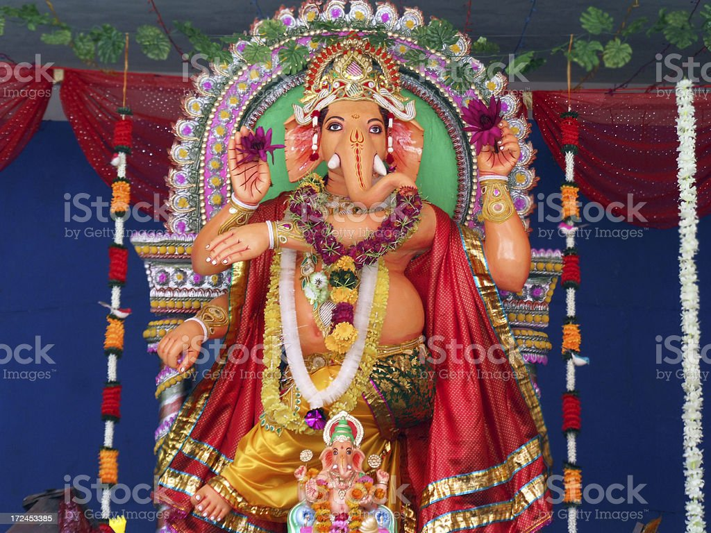 Ganesha ,Indian God of Success stock photo