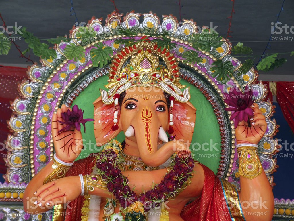 Ganesha is greeting stock photo