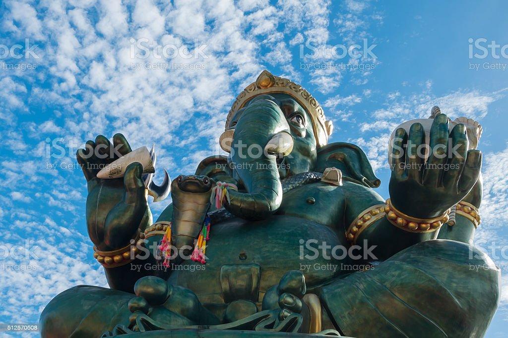 Ganesha statue and Hindu god, Thailand stock photo
