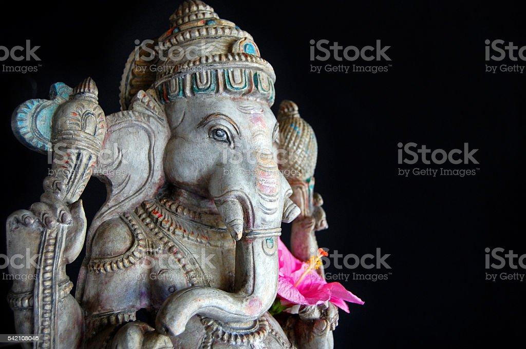 Ganesha statue at Spa Resort stock photo