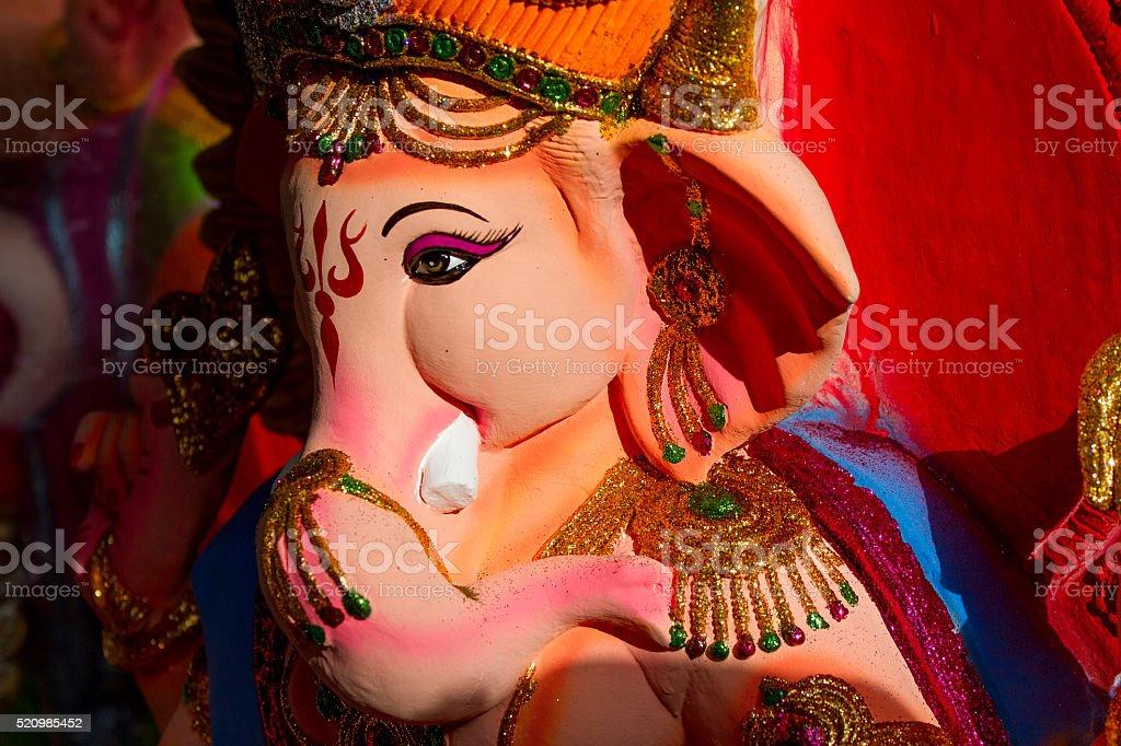 Ganesha statue close up stock photo