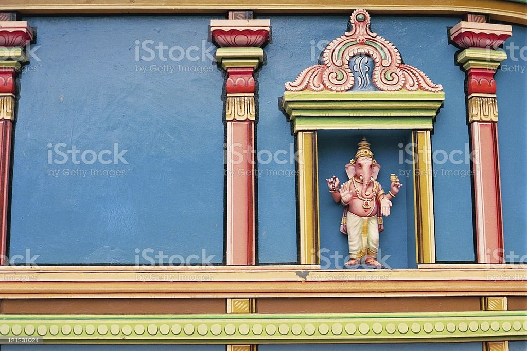 Ganesha Statue on wall of Temple royalty-free stock photo