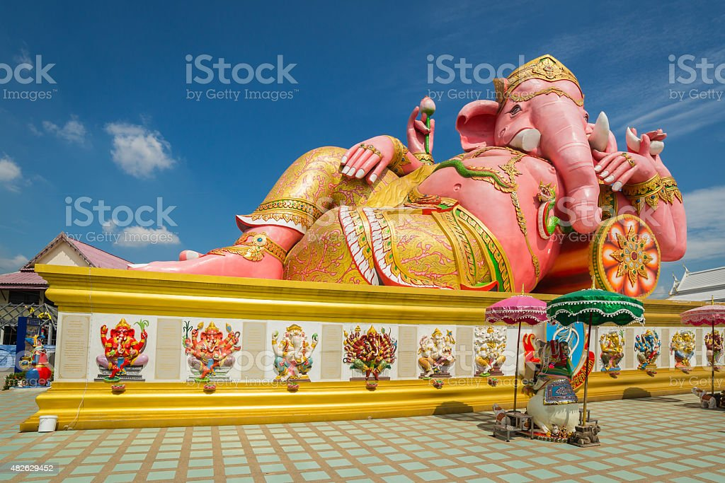 Ganesha statue stock photo