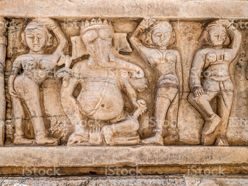 Ganesha stone carving in Jagdish in Udaipur India stock photo