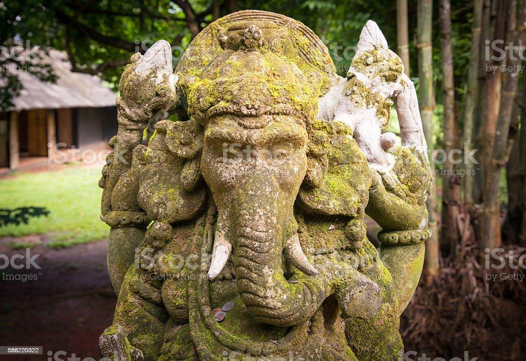 Ganesha stone sculpture. stock photo