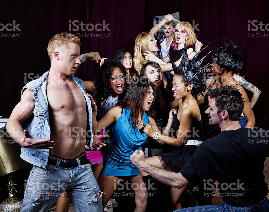 Gang Fight stock photo
