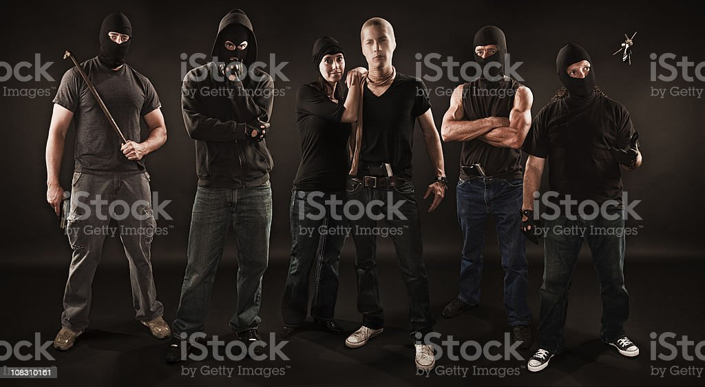 Gang of Robbers stock photo