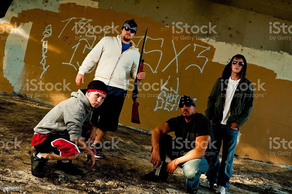 Gang royalty-free stock photo