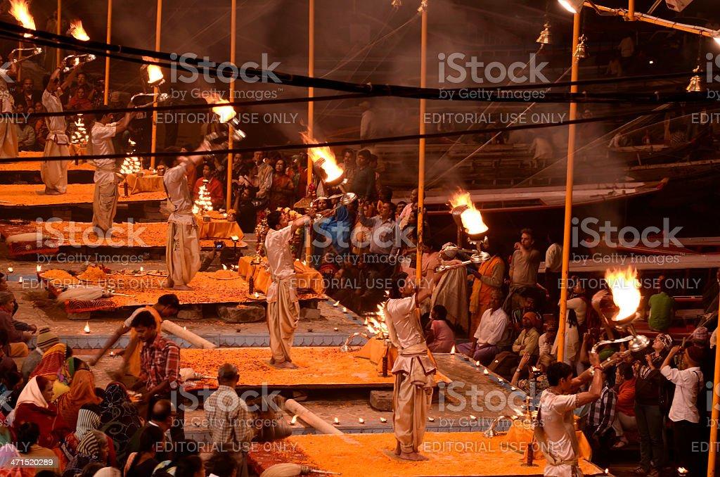 Ganga Aarti royalty-free stock photo