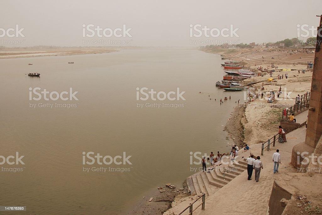 Ganga in Varanasi royalty-free stock photo