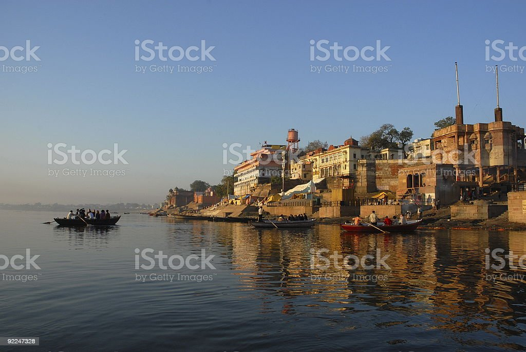Ganga Varanasi India royalty-free stock photo