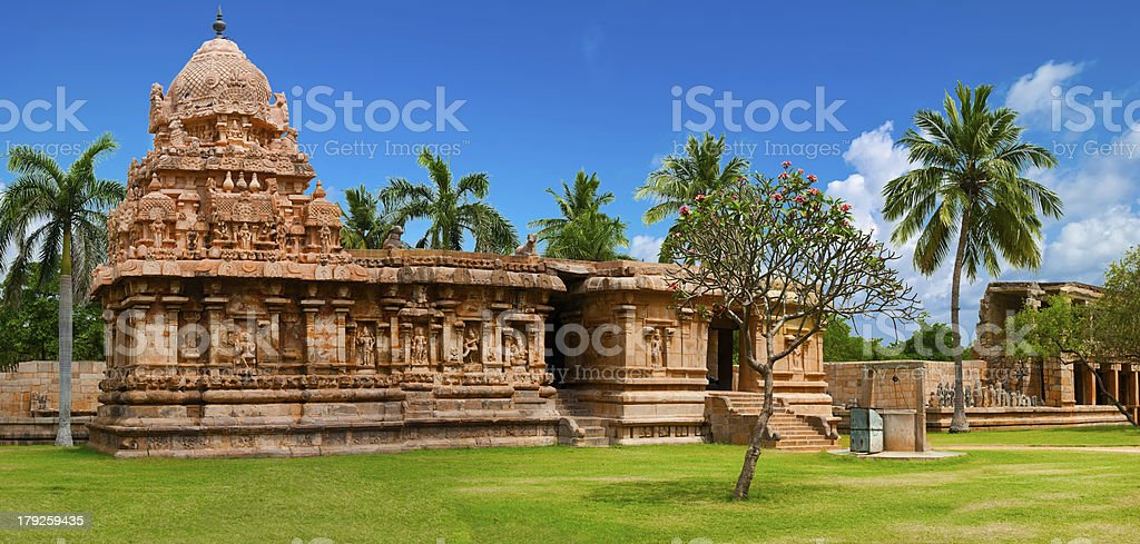 Gangaikonda Cholapuram Temple. Great Hindu architecture stock photo
