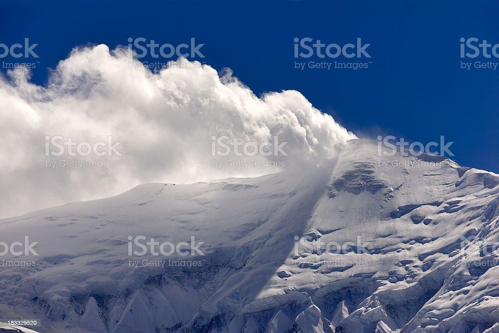 Gangapurna. Everest & Annapurna Circuit. Nepal motives stock photo