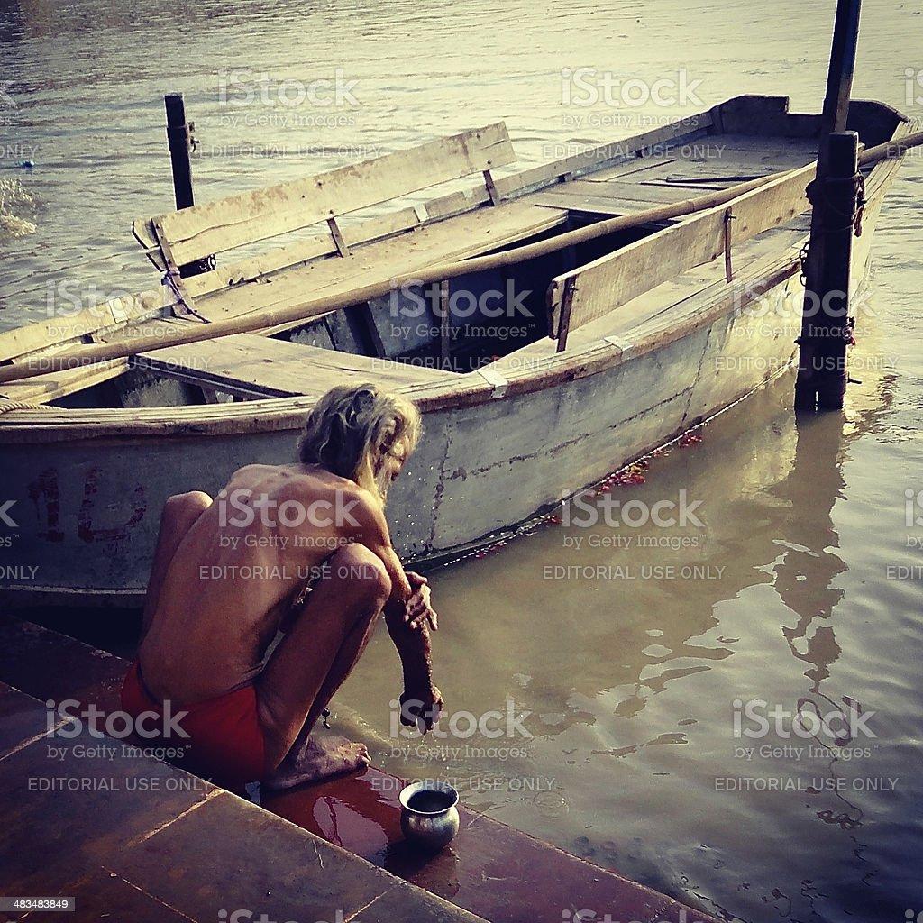 Ganges Holy Man stock photo