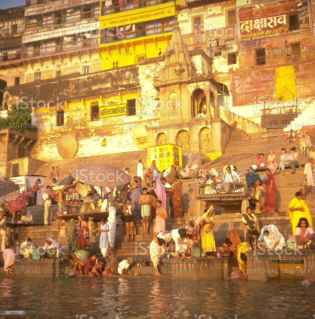 Ganges River at Dawn stock photo