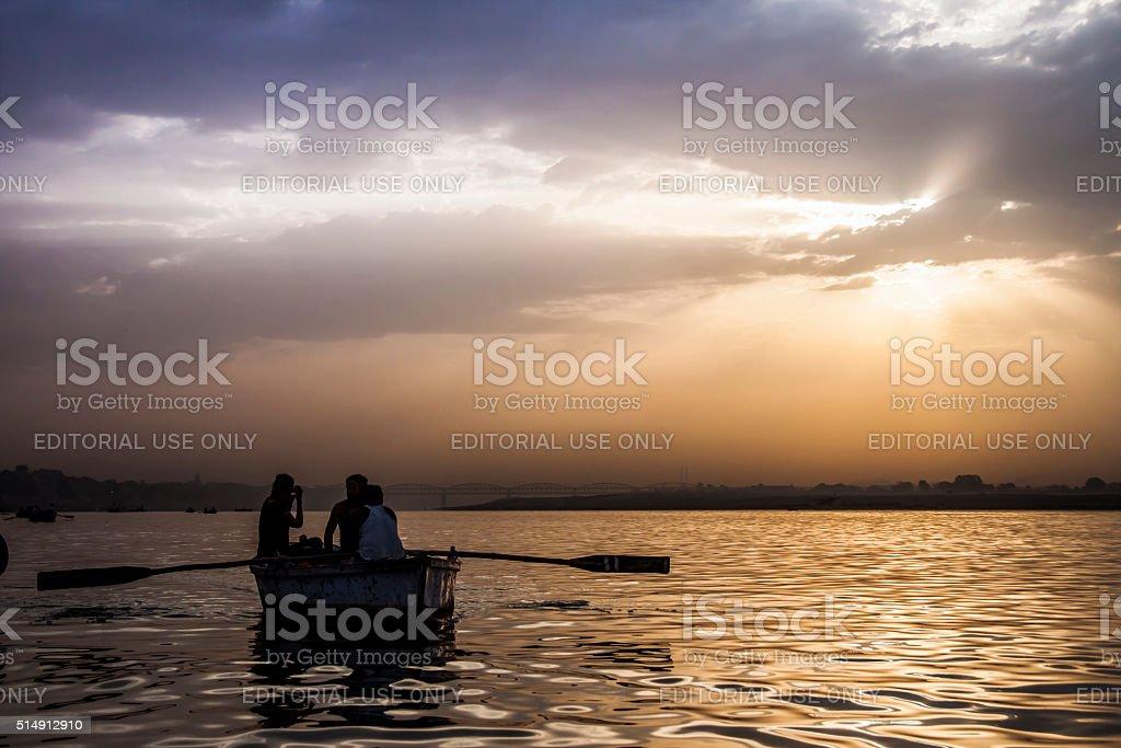Ganges river Varanasi, India stock photo
