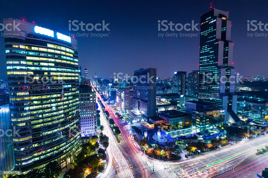 Gangnam, Korea stock photo