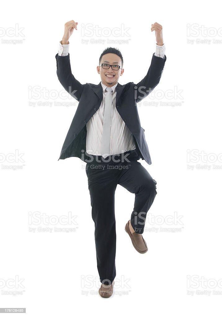 gangnam style asian business man stock photo