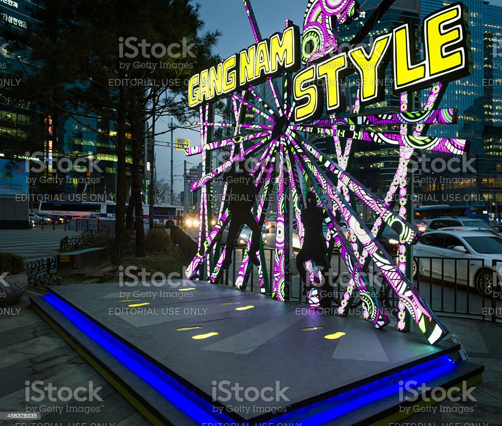 Gangnam Style 'Horse Dancing Stage' in Seoul stock photo