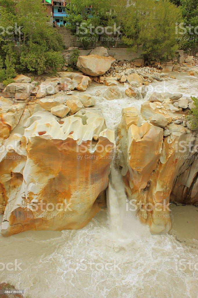 Gangotri - Surya kund view point stock photo