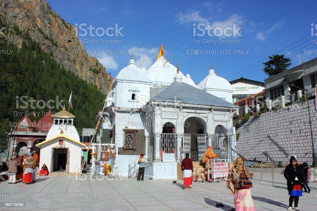 Gangotri Temple stock photo