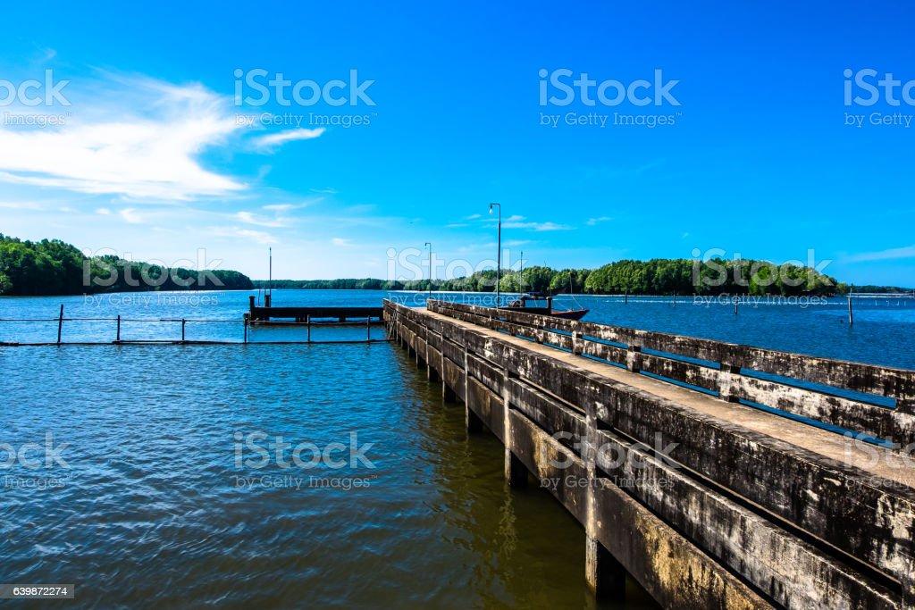 Gangplank stock photo