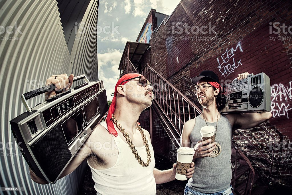 Gangsta Coffee Break royalty-free stock photo