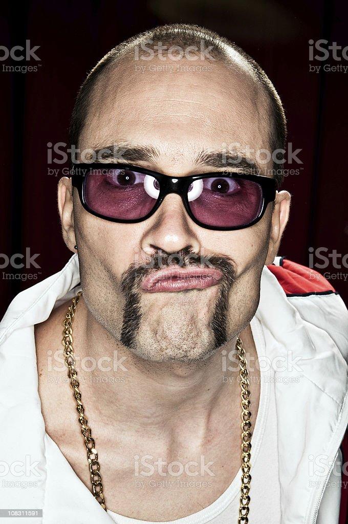 Gangsta Rapper royalty-free stock photo