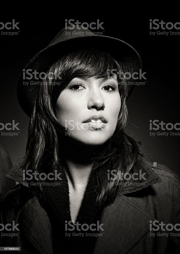 gangster beauty stock photo