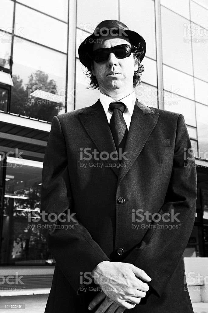 Gangster / business hipster stock photo