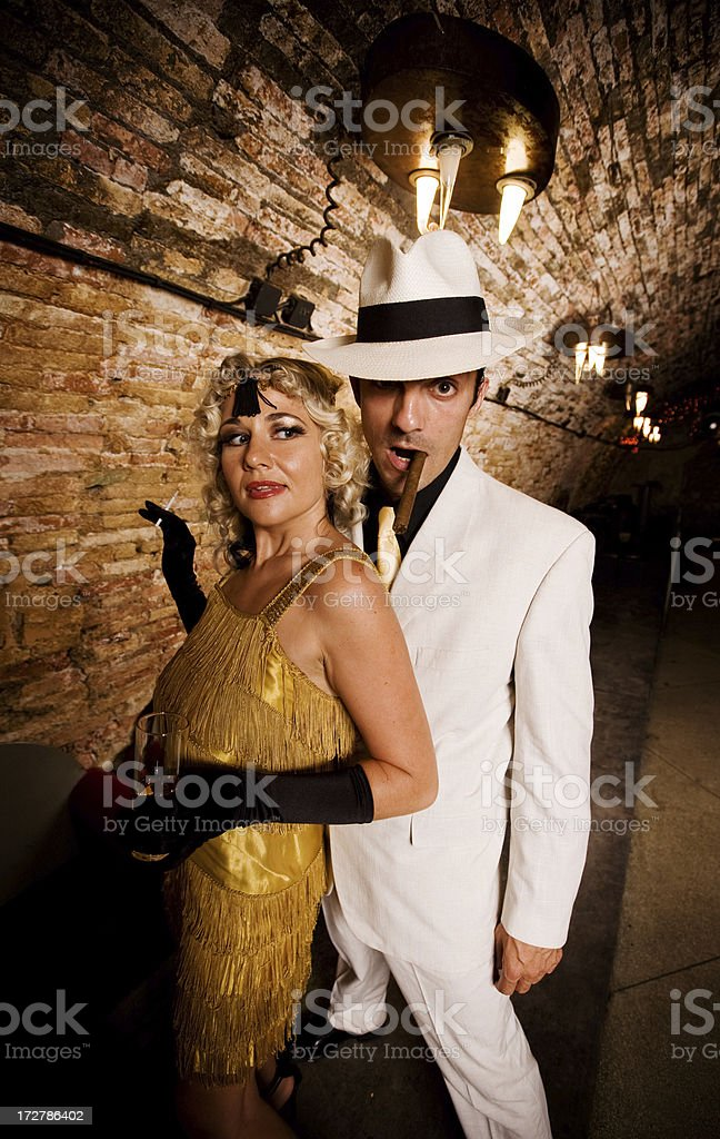 Gangster Couple royalty-free stock photo