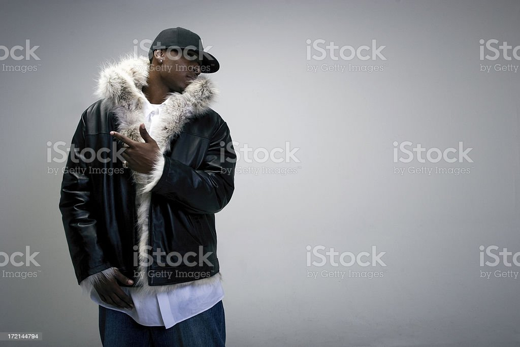 Gangster Fur royalty-free stock photo