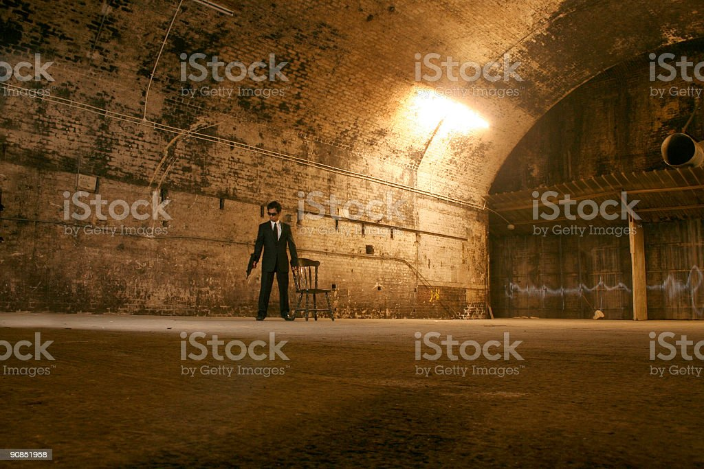 Gangster movie stock photo