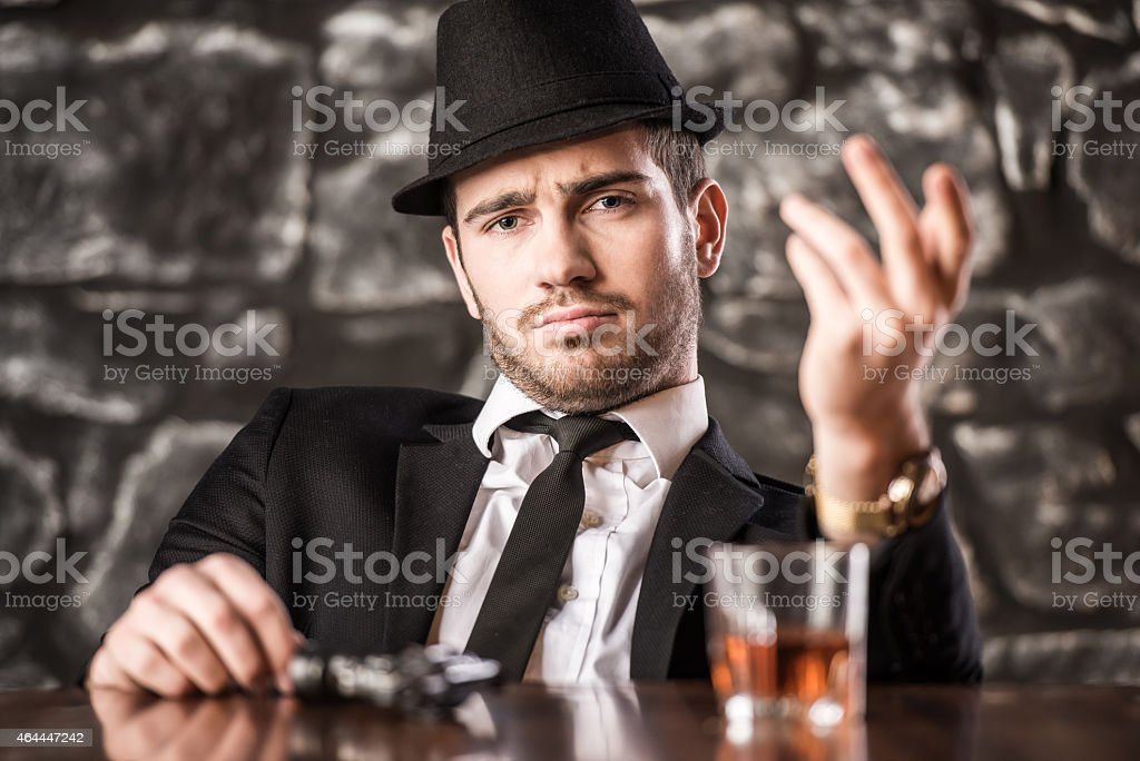 Gangster. stock photo