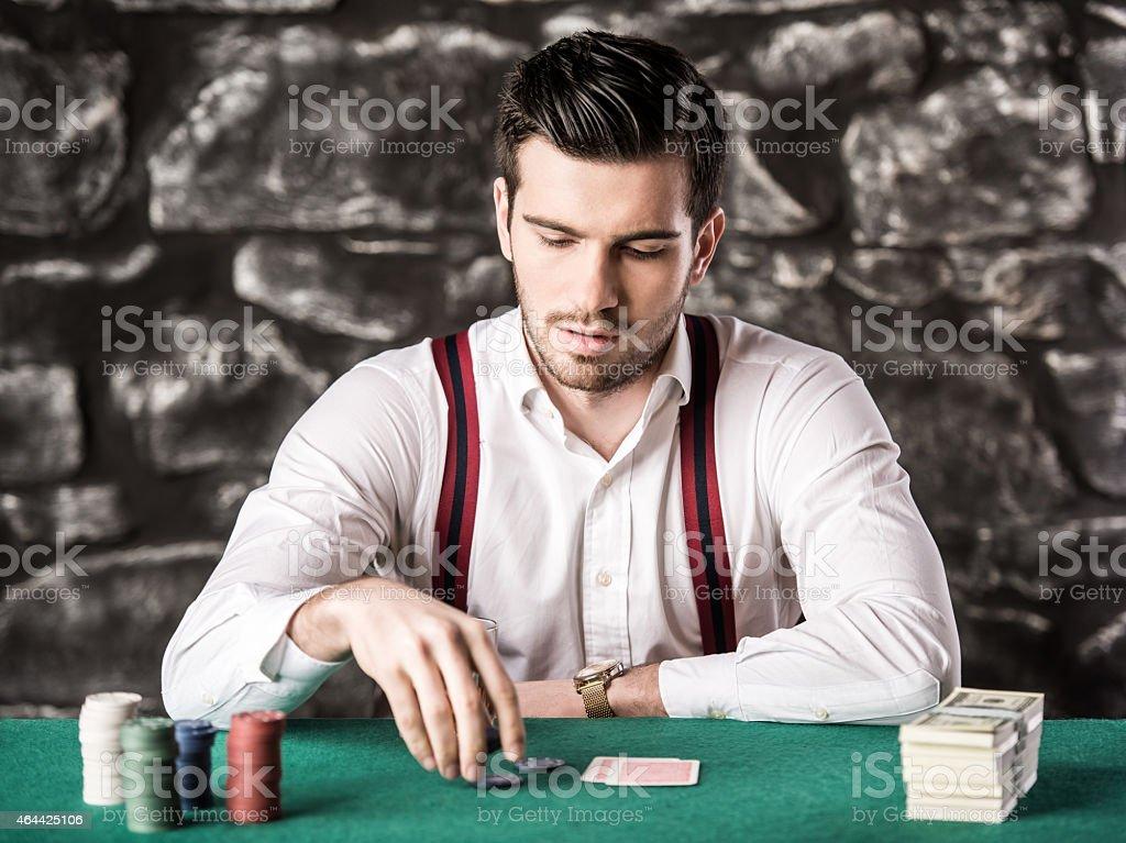 Gangster. Poker. stock photo