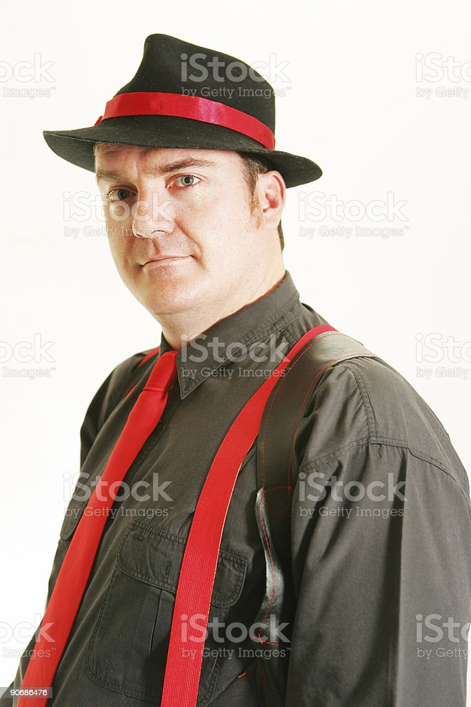 Gangster Portrait stock photo