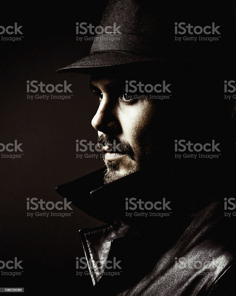 gangster profile stock photo