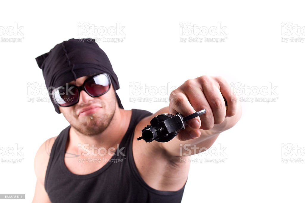 gangster shoot royalty-free stock photo