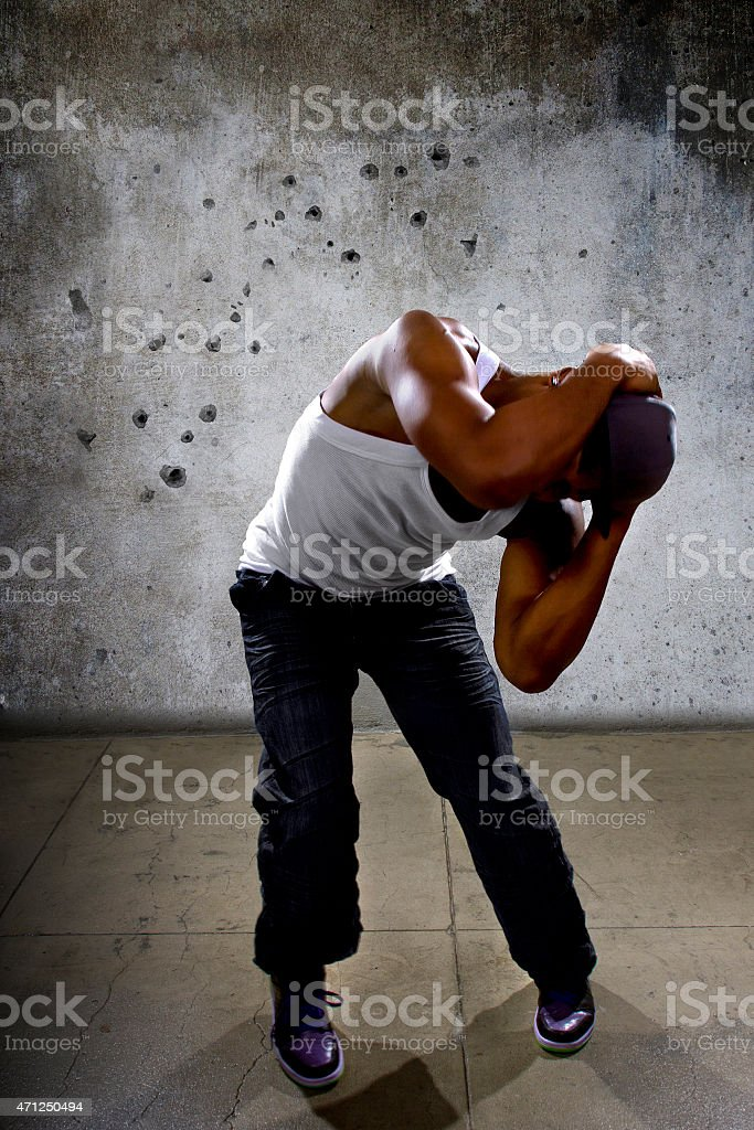 Gangster Survives a Drive By Shooting stock photo