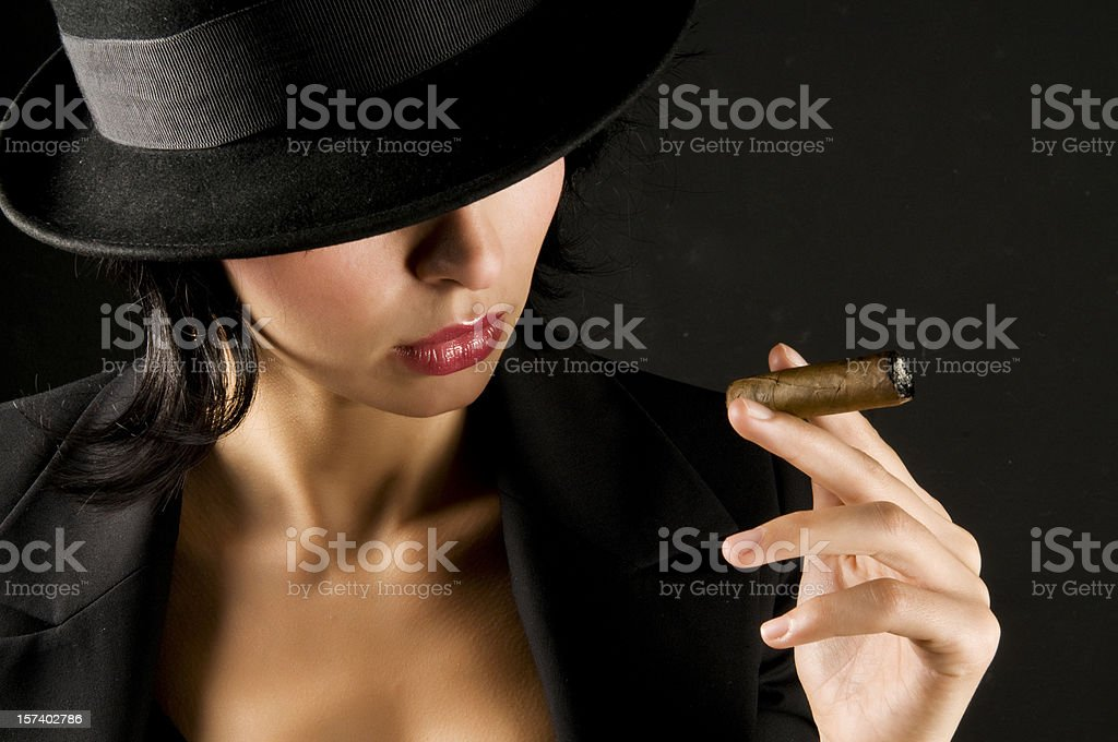 Gangster woman royalty-free stock photo