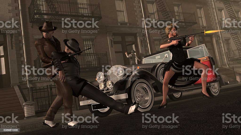 Gangsters problem stock photo