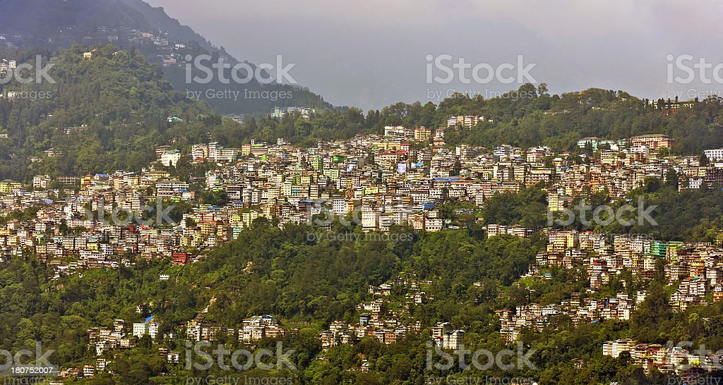 Gangtok in Sikkim Himalaya India Asia stock photo