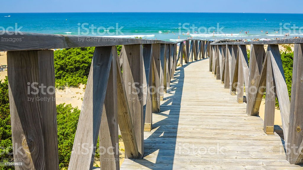 Gangway to the Beach 2 stock photo