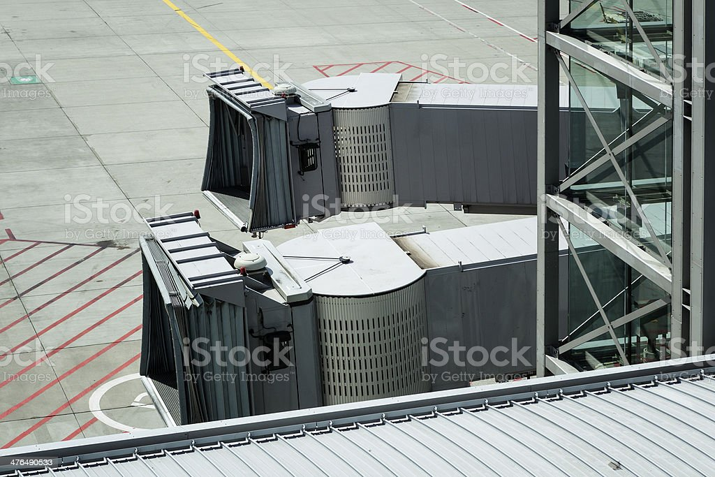 Gangways / Dock fingers stock photo