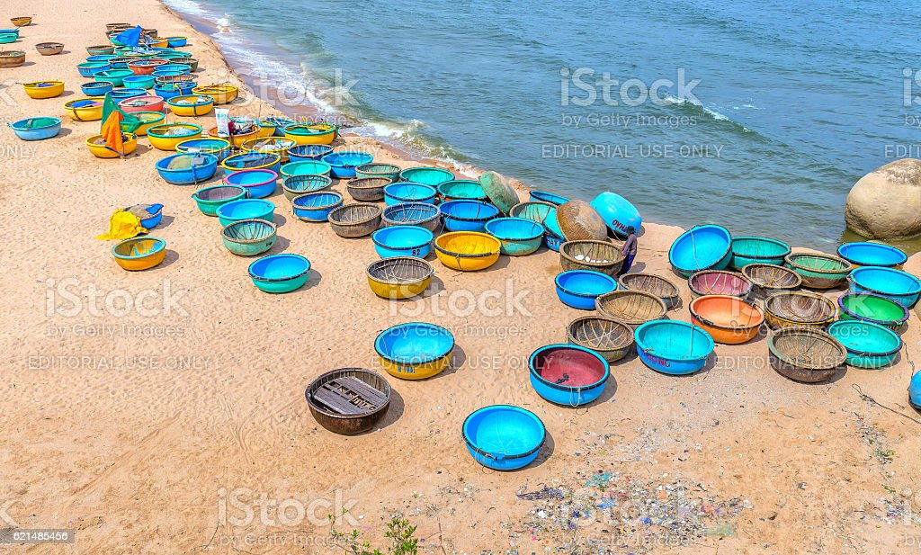 Ganh Son Beach on sunny afternoon stock photo
