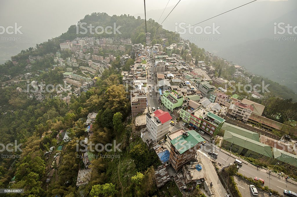 Ganktok city over view stock photo