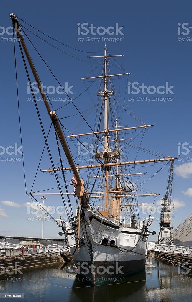 HMS Gannet stock photo