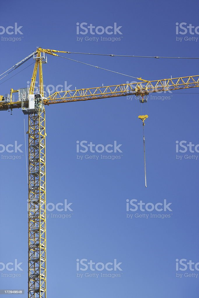 Gantry Crane Construction Site stock photo