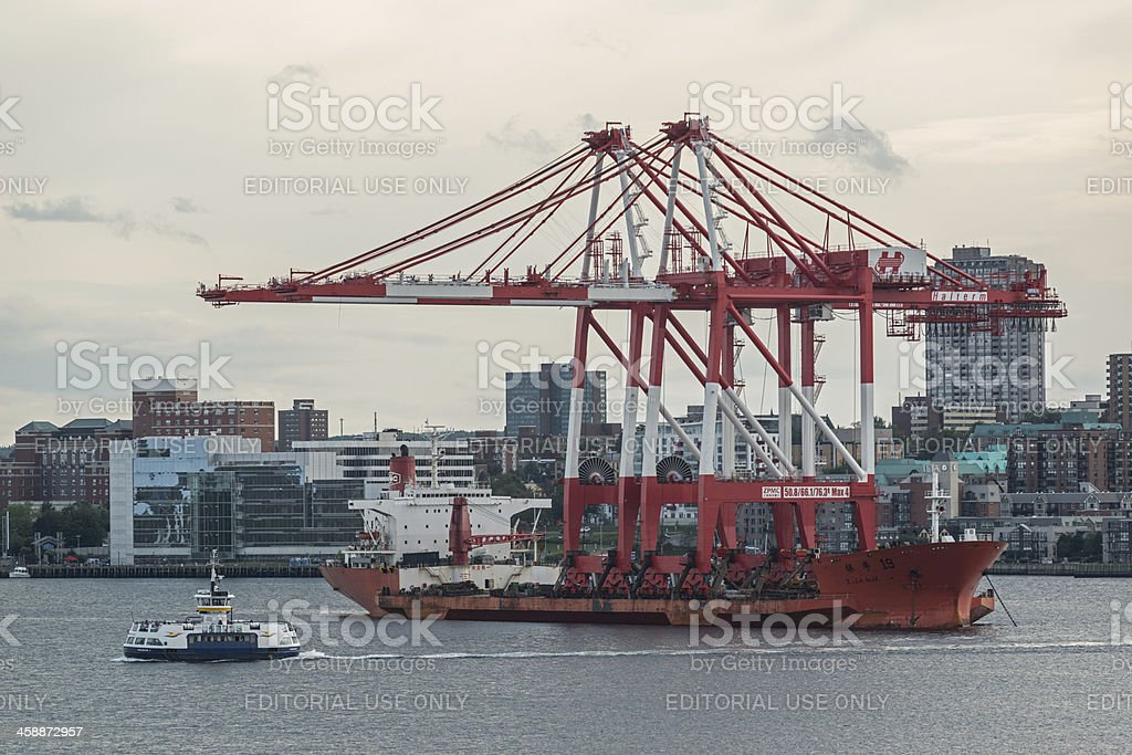 Gantry Crane Delivery royalty-free stock photo